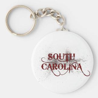 Bleeding Grunge South Carolina Keychain