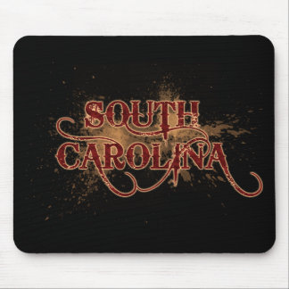 Bleeding Grunge South Carolina Mousepad Dark