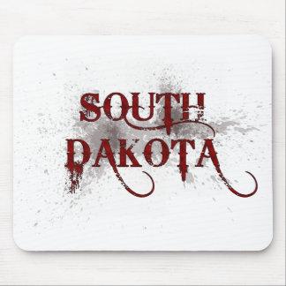 Bleeding Grunge South Dakota Mousepad