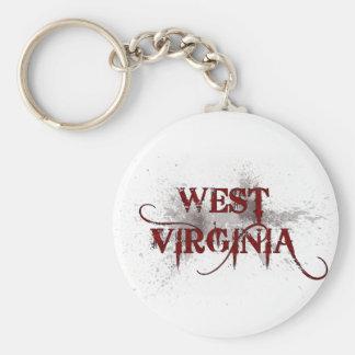 Bleeding Grunge West Virginia Keychain