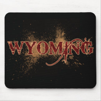 Bleeding Grunge Wyoming Mousepad Dark
