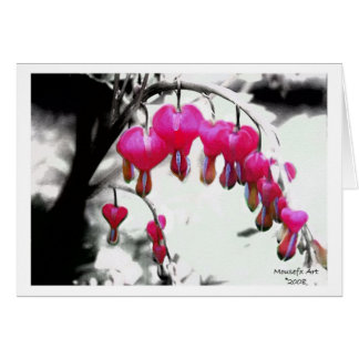 Bleeding Heart Birthday Card