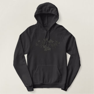 Bleeding Heart Elegance Embroidered Hoodie