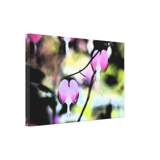 Bleeding Heart Floral Canvas Print