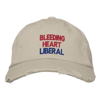 Bleeding Heart Liberal Embroidered Cap Embroidered Hat