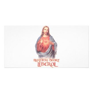 Bleeding Heart Liberal Jesus Picture Card
