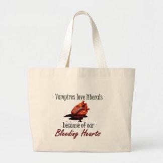 Bleeding Heart Liberal Large Tote Bag