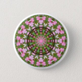 Bleeding Heart Nature, Flower-Mandala 05.f 2 Inch Round Button