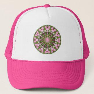 Bleeding Heart Nature, Flower-Mandala 05.f Trucker Hat