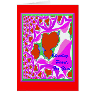Bleeding Hearts (Blank Inside) Greeting Card