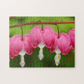 Bleeding Hearts in the Rain Jigsaw Puzzle