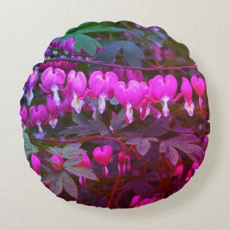 Bleeding Hearts Nature, Photo Round Pillow