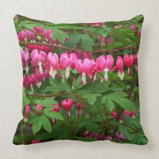 Bleeding Hearts Nature,  Photo Throw Pillow