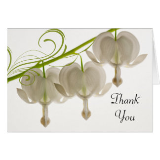Bleeding Hearts Wedding Bridesmaid Thank You Card