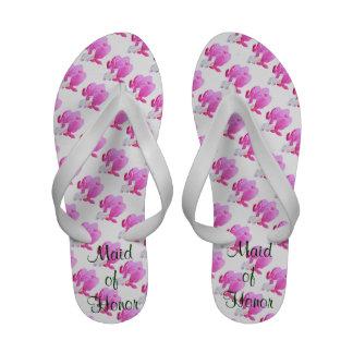 Bleeding Hearts Wedding Flip Flops Sandals