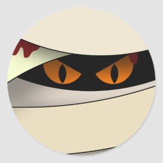 Bleeding Mummy Classic Round Sticker
