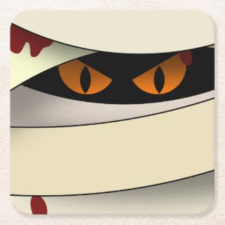 Bleeding Mummy Halloween Square Paper Coaster