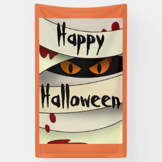 Bleeding Mummy Happy Halloween Banner