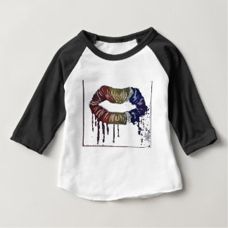 bleeding rainbows.lips and its not skittles! baby T-Shirt