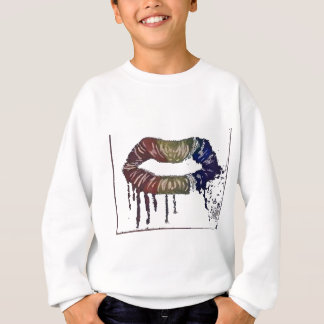 bleeding rainbows.lips and its not skittles! sweatshirt