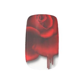 BLEEDING RED ROSE NAILS MINX NAIL ART