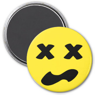 Bleh Face 3 Inch Round Magnet