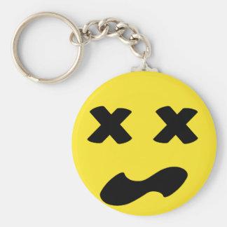 Bleh Face Basic Round Button Keychain