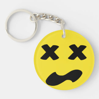 Bleh Face Double-Sided Round Acrylic Keychain