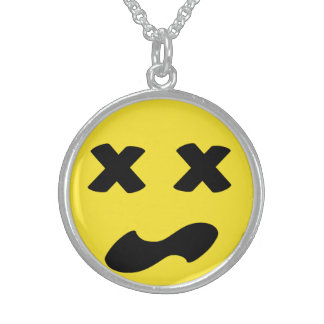 Bleh Face Sterling Silver Necklace