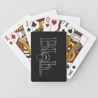"""Bleh"" Playing Cards, Standard Index faces Poker Deck"