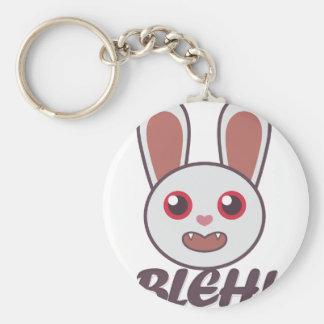 Bleh Rabbit Basic Round Button Keychain