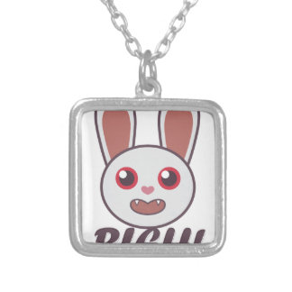 Bleh Rabbit Silver Plated Necklace