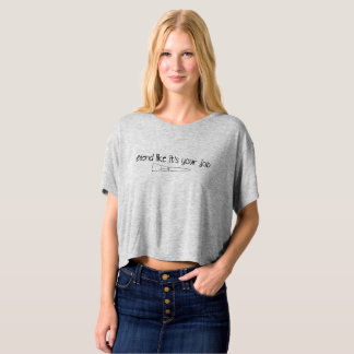 Blend Like It's Your Job Marbled Slouch Crop T-shirt