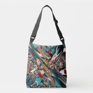 Blended Abstract Shapes Crossbody Bag