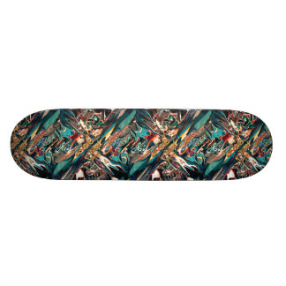 Blended Abstract Shapes Custom Skate Board
