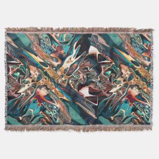 Blended Abstract Shapes Throw Blanket