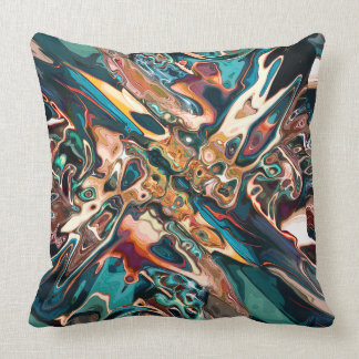 Blended Abstract Shapes Throw Pillow