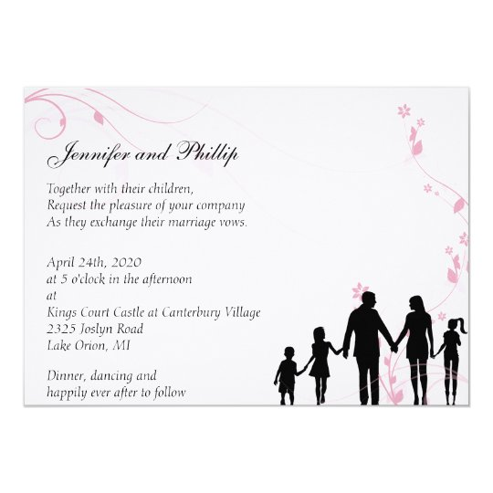 Blended Family Wedding Invitation