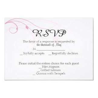 "Blended Family Wedding Response Card 3.5"" X 5"" Invitation Card"
