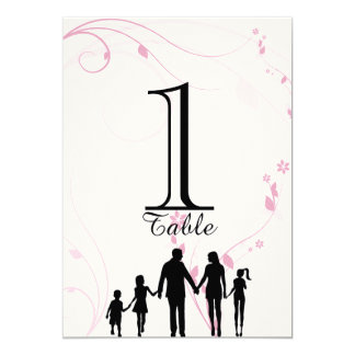 """Blended Family Wedding Table Number 5"""" X 7"""" Invitation Card"""