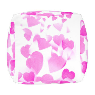 Blended Hearts cubed pouf