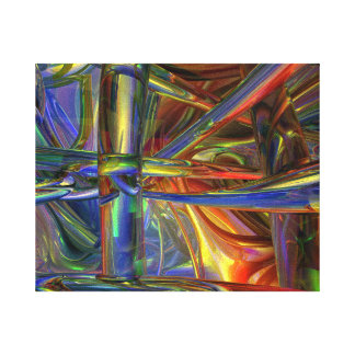 Blended pipes canvas print