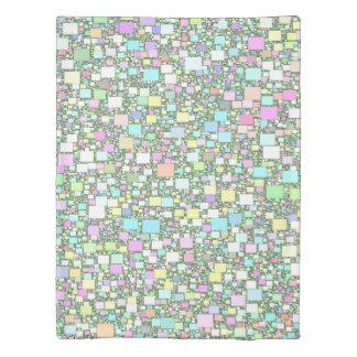 Blending Geometric Pastel Background Duvet Cover