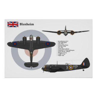 Blenheim Mk 1F 23 Squadron Print