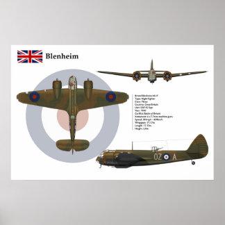 Blenheim Mk 1F 82 Squadron Poster