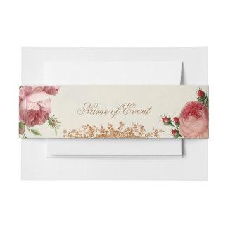 Blenheim Rose - Summer Sky Card Beautifully romant Invitation Belly Band