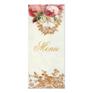 "Blenheim Rose - Summer Sky - Menu 4"" X 9.25"" Invitation Card"
