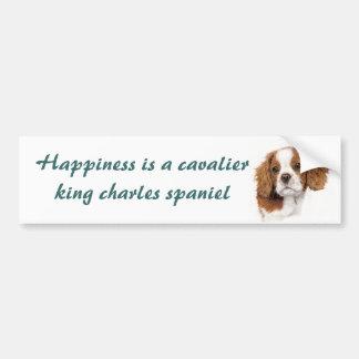 Blenhiem cavalier pup Bumper sticker
