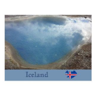 Blesi Hot Spring, Haukadalur, Iceland Postcard