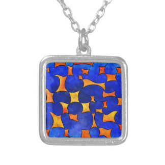 Blesmios V1- melting cubes Silver Plated Necklace